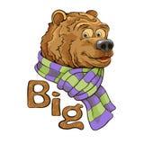 brunt roligt för björn royaltyfri illustrationer