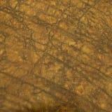 Brunt rynkad syra tvättad lädertrycktextur Royaltyfri Fotografi