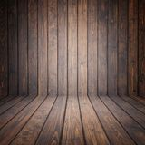 Brunt sörja trä tömmer utrymme Perspektivvägg För skärm eller royaltyfria foton