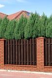 brunt staket royaltyfri foto