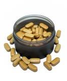 Brunt vitamin Fotografering för Bildbyråer