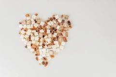 Brunt vitt socker Royaltyfri Fotografi