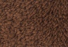 Bruntdubblett sid för tygtextur för frottén towelling bakgrund Arkivfoton