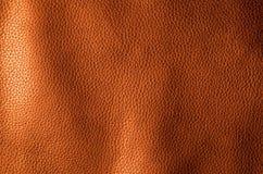 Bruntfärg för äktt läder För bakgrund och texturera royaltyfri foto