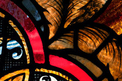 Bruntsidor i målat glass Arkivbild