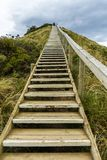 Lookout steps on Bruny island neck nature reserve. Bruny Island Neck, Tasmania, Australia - December 20, 2016: lookout steps on Bruny island neck nature reserve stock images