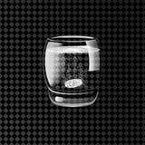 Brusande preventivpillerar i ett exponeringsglas av vatten också vektor för coreldrawillustration Arkivbild