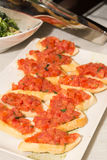 Bruscetta bread with tomatoes Royalty Free Stock Photo