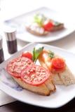 Bruscetta śródziemnomorska kanapka Zdjęcie Royalty Free