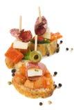 bruschetta自助餐冷意大利语 免版税库存图片