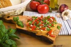 bruschetta食谱 库存照片