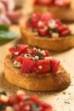 Bruschetta με την ντομάτα Στοκ φωτογραφία με δικαίωμα ελεύθερης χρήσης