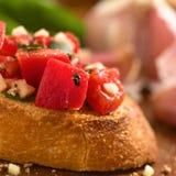 Bruschetta με την ντομάτα Στοκ Εικόνα