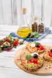 Bruschetta με την ντομάτα Στοκ φωτογραφίες με δικαίωμα ελεύθερης χρήσης