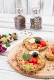 Bruschetta με την ντομάτα Στοκ εικόνα με δικαίωμα ελεύθερης χρήσης