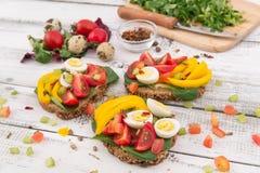 Bruschetta με την ντομάτα Στοκ Εικόνες