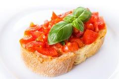 Bruschetta με τις ντομάτες Στοκ εικόνα με δικαίωμα ελεύθερης χρήσης