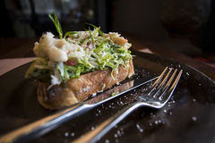Bruschetta σάντουιτς Στοκ Φωτογραφίες