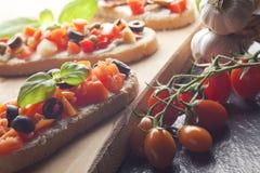 bruschetta закуски Стоковая Фотография RF