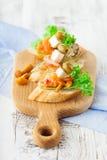 Bruschetta с копчеными семгами Стоковые Фото