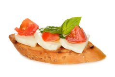 Bruschetta с моццареллой и томатами Стоковое Фото