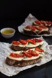 Bruschetta с оливковым маслом Стоковое Изображение RF