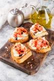 Bruschetta с томатами Стоковые Изображения RF