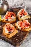 Bruschetta с томатами Стоковые Фото