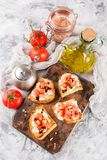 Bruschetta с томатами Стоковое фото RF