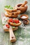 Bruschetta с томатами Стоковая Фотография RF
