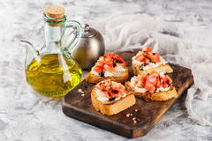 Bruschetta с томатами Стоковое Фото