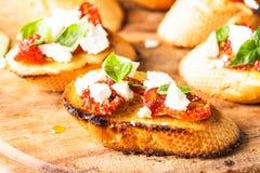 Bruschetta с sundried томатами Стоковая Фотография RF