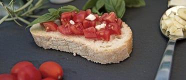 Bruschetta хлеба чеснока Стоковое Изображение