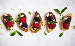 Bruschetta ягоды Стоковая Фотография