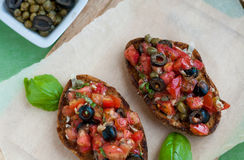 Bruschetta Stock Foto