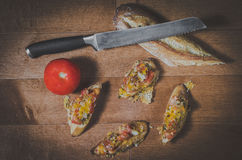 Bruschetta Fotografia de Stock Royalty Free