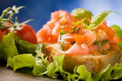 Bruschetta - Appetizer Royalty Free Stock Photography