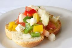 Bruschetta appetizer Stock Photography