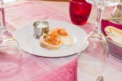 Bruschetta appetizer Stock Photo
