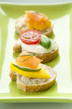 Bruschetta Appetizers Royalty Free Stock Photos