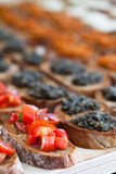 Bruschetta appetizers Royalty Free Stock Image