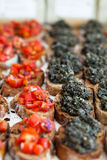 Bruschetta appetizers Stock Images