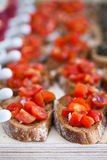 Bruschetta appetizers Stock Photography