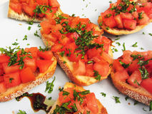 Bruschetta Appetizers Stock Photo