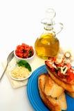 Bruschetta avec l'huile d'olive Images libres de droits