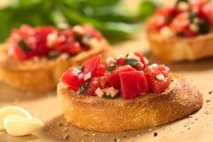 Bruschetta avec la tomate Photos libres de droits