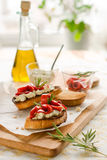 Bruschetta with bell pepper Royalty Free Stock Image