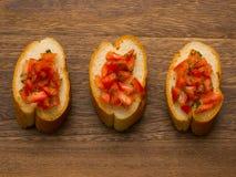 Bruschetta bread Stock Photo