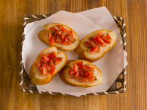 Bruschetta bread Royalty Free Stock Photography