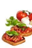 Bruschetta breads Stock Photos